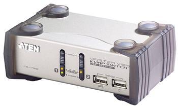 CS-1732 ATEN 2-port KVMP USB+PS/2, usb hub, audio, 1.2m kabely CS-1732A