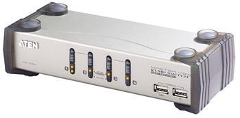 CS-1734 ATEN 4-port KVMP USB+PS/2, usb hub, audio, 1.2m kabely CS-1734AC