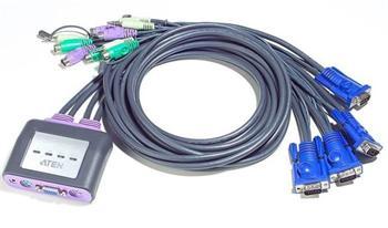 CS-64A ATEN 4-port KVM PS/2 mini, audio, 1.2m kabely