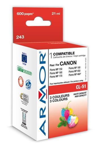 K20221 ARMOR ink-jet pro Canon iP 2200/ 6210D 3 barvy,21 ml,kom.s CL51