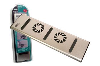 DA-70341 DIGITUS Chladící podložka k notebooku, 2 ventilátory, čtečka karet,HUB