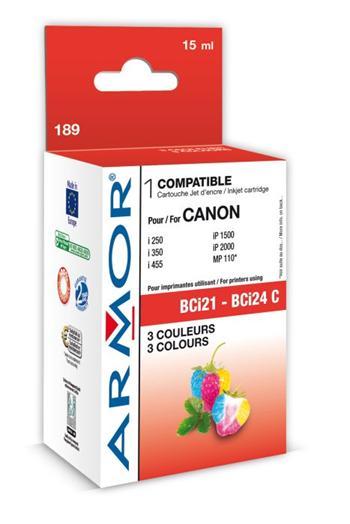 K12307 ARMOR ink-jet pro Canon S100/300 3 barvy,kompat.s BCI21C k.č.189