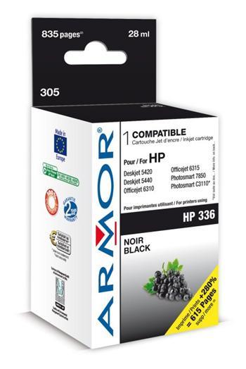 K20260 ARMOR ink-jet pro HP Photosmart 2575 černý, 28 ml, kompat.s C9362E, k.č. 305