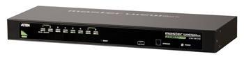 """CS-1308A ATEN 8-port KVM PS/2+USB, OSD, rack 19"""", kombo konzole"""