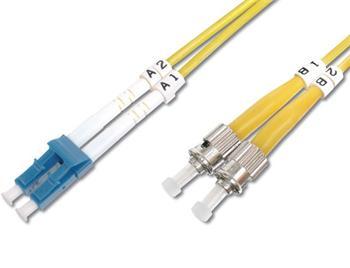 DK-2931-03 DIGITUS Fiber Optic Patch Cord, LC to ST Singlemode 09/125 µ, Duplex Length 3m