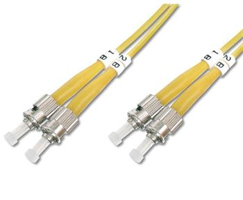 DK-2911-05 DIGITUS Fiber Optic Patch Cord, ST to ST Singlemode 09/125 µ, Duplex Length 5m