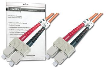 DK-2522-03 DIGITUS Fiber Optic Patch Cord, SC to SCMultimode 50/125 µ, Duplex Length 3m