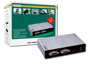 DC-53501 DIGITUS VGA Video Extender and Splitter over Cat5 local, 2remote up to 180 m (CAT5, UTP) resolution 1280X1024 at 60Hz