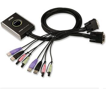 CS-682 ATEN 2-port DVI KVMP USB2.0,  mini, audio, 1.2m kabely