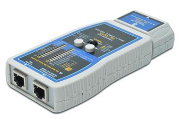 ACT-LCS-400 DIGITUS Síťový kabelový tester - RJ45, BNC, odnímatelná jednotka (až 16), parita, tok, izolace