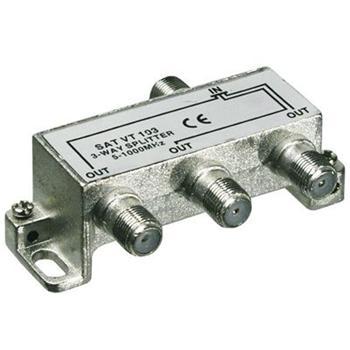 ktf13 PremiumCord antenní rozbočovač na F konektory  1-3 výstupy  5-1000 MHz