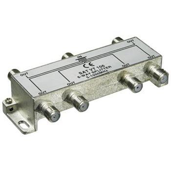 ktf16 PremiumCord antenní rozbočovač na F konektory  1-6 výstupy  5-1000 MHz