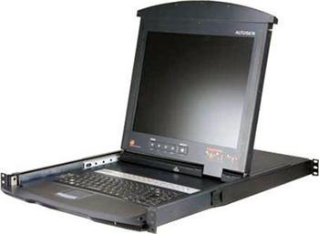 "KL-9108MA ATEN 8-port KVM PS/2, OSD, DualRail, 17"" LCD, touchpad, klávesnice"