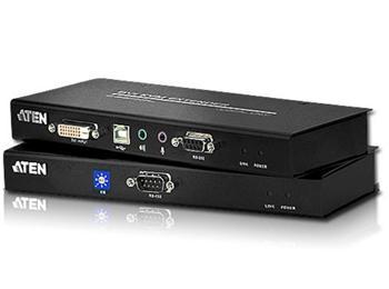 CE-600 ATEN Extender PC-konzole DVI až 60m ,USB, až 1920x1200 bodů / surge, RS-232