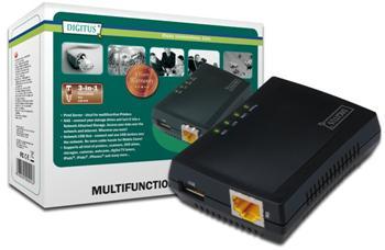 DN-13020 DIGITUS 1-Port USB 2.0 multifunkční síťový server/NAS