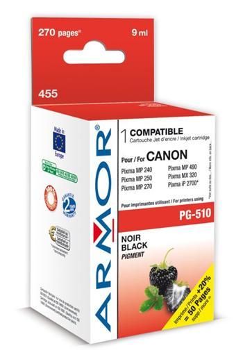 K20281 ARMOR ink-jet pro Canon MP240/260 černý, 9ml, PG510, 455 k.č.