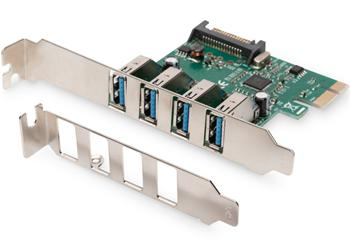 DS-30221 DIGITUS 4-Port USB 3.0 PCI Express přídavná karta, chipset VL800