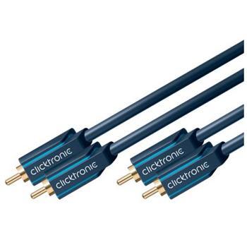 CLICK70376 ClickTronic HQ OFC kabel 2x CINCH - 2x CINCH RCA, M/M, 0.5m