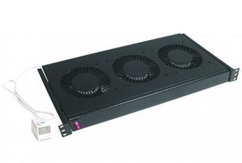 """DP-VEN-03 CONTEG 19"""" ventilační jednotka, 3 ventilátory, 230V, termostat"""