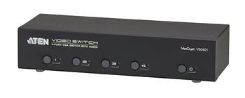 VS-0401 ATEN 4-port VGA Video/Audio elektronický přepínač