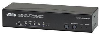 CE-775 ATEN Extender PC-konzole, Dual View, USB až 300m, až 1920x1200 bodů
