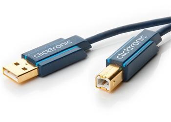 CLICK70097 ClickTronic HQ OFC USB2.0 kabel, A-B, zlacené konektory, 3m