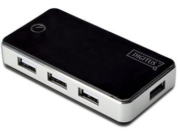DA-70222 DIGITUS USB 2.0 7-Port Hub s napájecím adaptérem 5V/3.5A černý