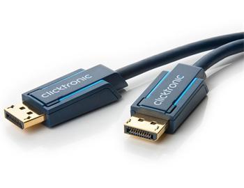 CLICK70711 ClickTronic HQ OFC kabel DisplayPort, zlacené kon., 3D, 2m