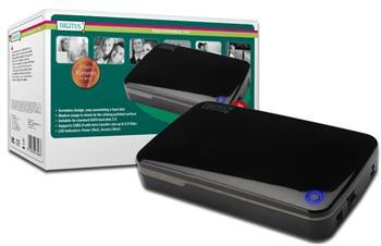 "DA-71035 DIGITUS Externí box 3,5"" S-ATA - USB 3.0 bezšroubová montáž, OTB funkce"