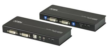 CE-604 ATEN Extender PC-konzole Dual DVI až 60m ,USB, až 1920 x 1200 bodů / surge, RS-232
