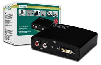 DS-40230 DIGITUS Multimediální převodník DVI + audio na HDMI