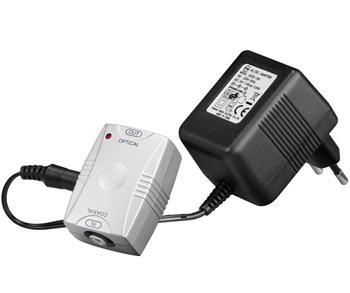 kjtosred07 goobay Převodník z digitálního koaxiálního RCA signálu na optický digitální TOS(F)