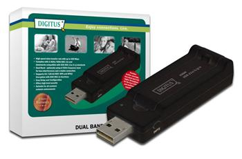 DN-70650 DIGITUS Wireless 450N DualBand 2.4/5Ghz USB 2.0 adaptér