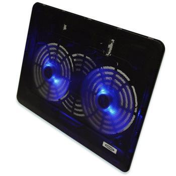 edn64098 ednet Chladící podložka pod notebook, 2 tiché ventilátory, modře svítící