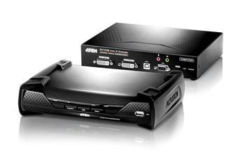 KE-6940 ATEN Zařízení pro ovládání DVI KVM Dual View OverNet, rack, RS-232, více počítačů, více ovládacích míst