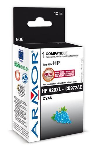 K20450 ARMOR ink-jet pro HP,  No. 920XL, cyan, 12ml, CD972AE