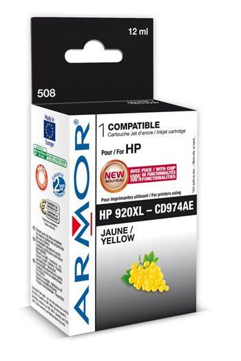 K20452 ARMOR ink-jet pro HP,  No. 920XL, yellow, 12ml, CD974AE