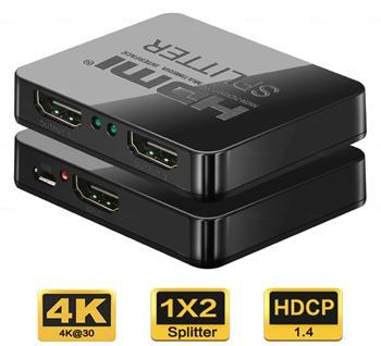 PremiumCord HDMI splitter 1-2 portů, 3D, 4K x 2K,  FULL HD s napájením z USB