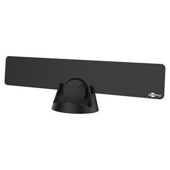 DVB-T12 goobay DVB-T aktivní Full HD vnitřní ultraplochá anténa se zdrojem, zisk 30 dB