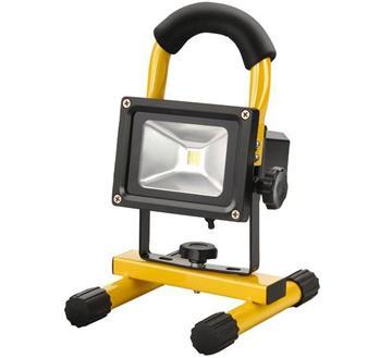 ledz-40 Extol LED reflektor, nabíjecí s podstavcem, 10W, 800lm, IP65, denní světlo