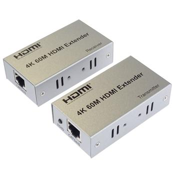 khext60-1 PremiumCord HDMI extender na 60m přes jeden kabel Cat5e/Cat6