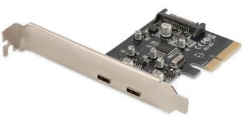 DS-30223 DIGITUS PCIe USB 3.1 přídavná karta s konektorem Typu C, 10 Gbps