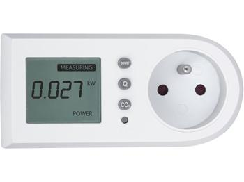 test-15 Extol Měřič spotřeby el. energie - wattmetr, kW, kWh, CO2
