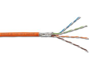 DK-1743-VH-10 DIGITUS CAT 7 orange Twisted Pair PiMF Installation CableS/FTP, AWG 23/1, LSZH, 1000MHz, 1m