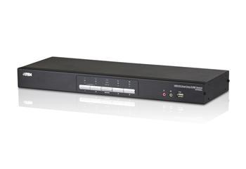 CS-1644A ATEN 4-port DVI DualLink KVMP USB, 2port USB HUB, audio, podpora Quad modu
